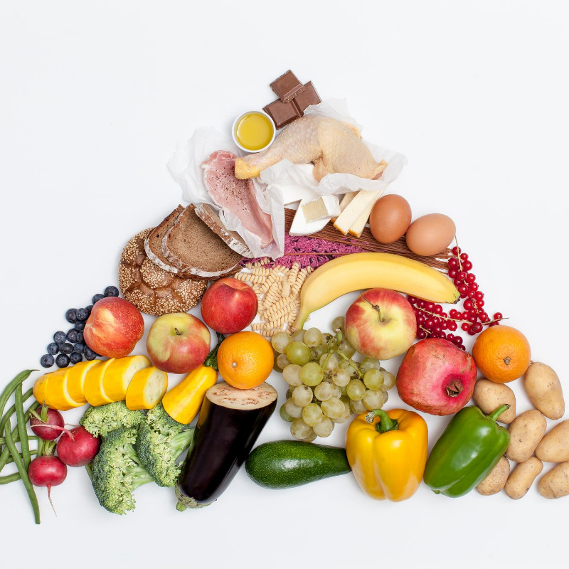 A modified food pyramid for the older woman